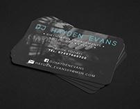 Business Cards - DJ Hayden Evans