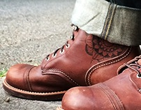 Red Wings Male - Leather Burning