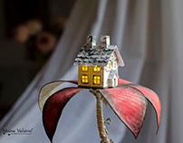 Flower House - Book Sculpture