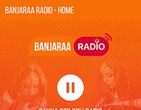 Banjaraa Radio App UI UX Design