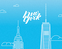New York Lettering Card