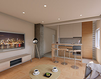 Quick kitchen/living room design
