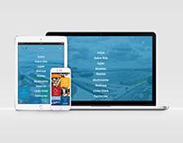 Layout Site e Design de Campanha para as Portas do Mar