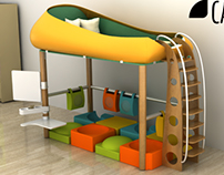 Capsule : Adaptable Bed for 4-8 years old children