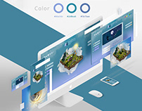 Isometric Website Ui/Ux