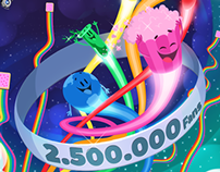 Trivia Crack - Social Media Illustrations