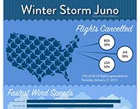 Winter Storm Juno Inforgraphic