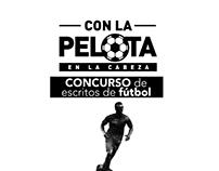Key Visual concurso de escritos de fútbol