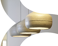 Paper HUG lamps for Libri Publishing Company's Office
