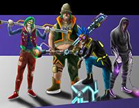 Concept Design for Parkour Cyberpunk Video Game