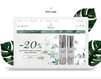 E-commerce - Natural cosmetics store
