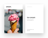 Unicorn ice cream - the first screen of app
