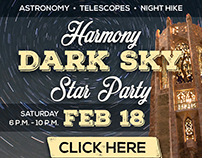 Harmony Dark Sky Star Party digital advertising