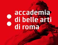 Segnaletica Accademia di Belle Arti di Roma