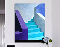 Abstract arhitercure paining. Acrylic / canvas