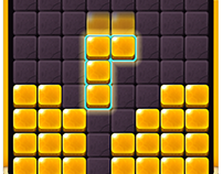 Game Graphic Design: Golden Block Puzzle