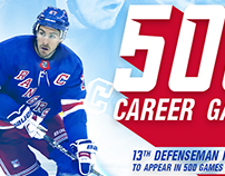 Ryan McDonagh - 500 Career Games