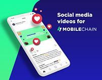 Social media videos for Mobilechain