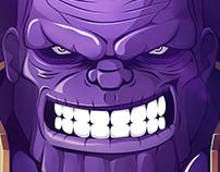 Avengers Infinity War - Thanos Art Print