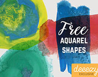 Free Aquarel Shapes