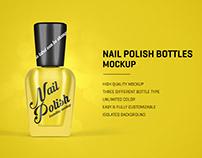 Nail Polish Bottles Mockup