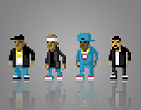 Pixel Art Urban Tribes