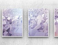 Triptych 3D Abstract - Mother's 50th Birthday