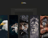NatGeo website concept ui design