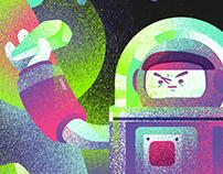「深淵的採礦人」插畫, 設計   Abyss Miner