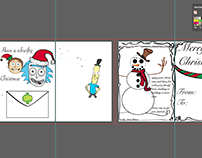 unfinished Christmas card