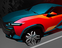 Crossback EV sketches&prototype 2014