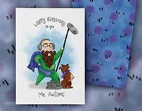Mr Awesome Illustration Card