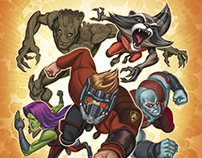 Guardians of the Galaxy Little Golden Book art