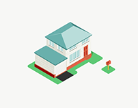 Isometric House Icons