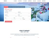Layout Design for a Travel Website