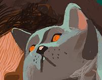 Flyusha the cat