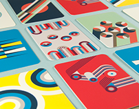 Geometric posters & business cards