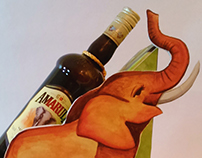 """Display para """"Amarula"""" - Ilustración Comercial"""