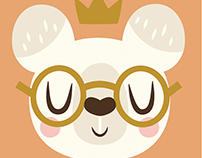 Animal Face Greetings Card Set