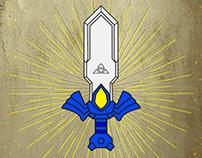 Master Sword - Enamel Pin Design