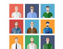 People Icons In Flat style