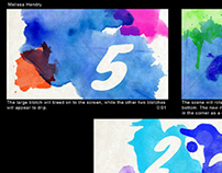 Water Color Countdown Leader Motion Graphics Video