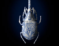 Delft Blue Beetle Bug