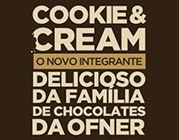 Lançamento Chocolate Cookie & Cream Ofner