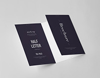 Tri-Fold Half Letter Brochure Mock-up
