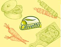 Etiqueta ilustrada Olivetto