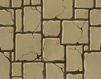Hand-painted stylized textures.