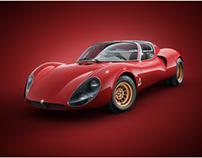 1967 Alfa Romeo 33 Stradale CGI