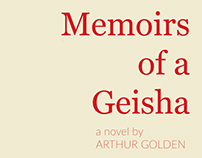 Mock Book Cover Design : Memoirs of a Geisha