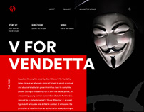 V For Vendetta Web Concept